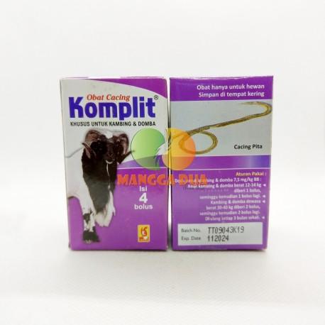 Komplit 4 Bolus Original - Pil Obat Cacing Perut hati Pita Gelang untuk Kambing Domba Meningkatkan Nafsu Makan