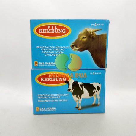 Pil Kembung 4 Bolus Original - Pil untuk Sapi Kerbau Domba Kambing Mengobati Kembung Menambah Nafsu Makan