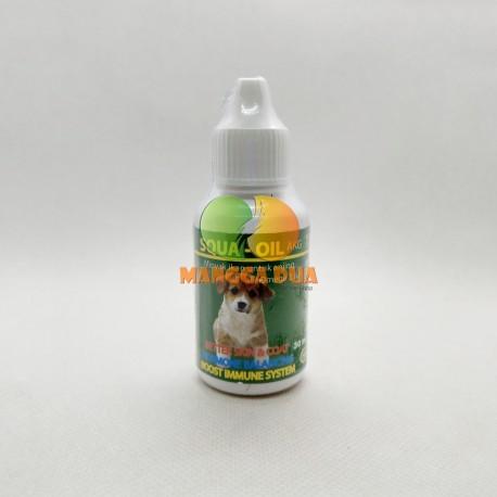 Squa Oil Dog AKG 30 ml Original - Minyak Ikan Untuk Anjing Doggie Bulu Tebal Sehat Nutrisi