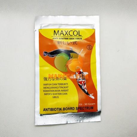 Maxcol 30 gram Original - Anti Bakteri Dan Virus Ikan Antibiotik Board Spectrum