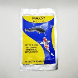 Maxsy 30 gram Original - Anti Kembung Pendarahan Berputar Putar Ikan Antibiotik Board Spectrum