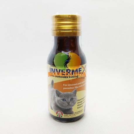 Invermex 60 ml Original - Obat Oral Anti Demodex Kucing Obat Kutu Kucing Obat Scabies