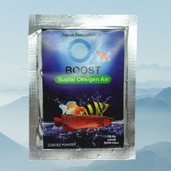 O2 Boost 10 Gram Original - Bubuk Serbuk Oksigen Aquarium Kolam Ikan Koi