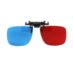 Kacamata 3D Clip On Red Cyan ( Merah Biru ) Anaglyph - Best Seller