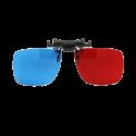 Kacamata 3D Clip On Red Cyan ( Merah Biru ) Anaglyph - Best Seller