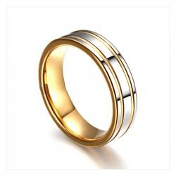 Cincin Nikah Kawin Tunangan Tungsten 18K Emas (Lebih Awet dari Emas)
