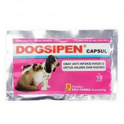Dogsipen 10 Capsul Original - Antibiotik Khusus untuk Anjing dan Kucing